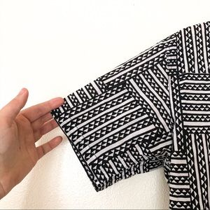 ManaOla Shirts - ManaOla Black and White Button Down Aloha Shirt